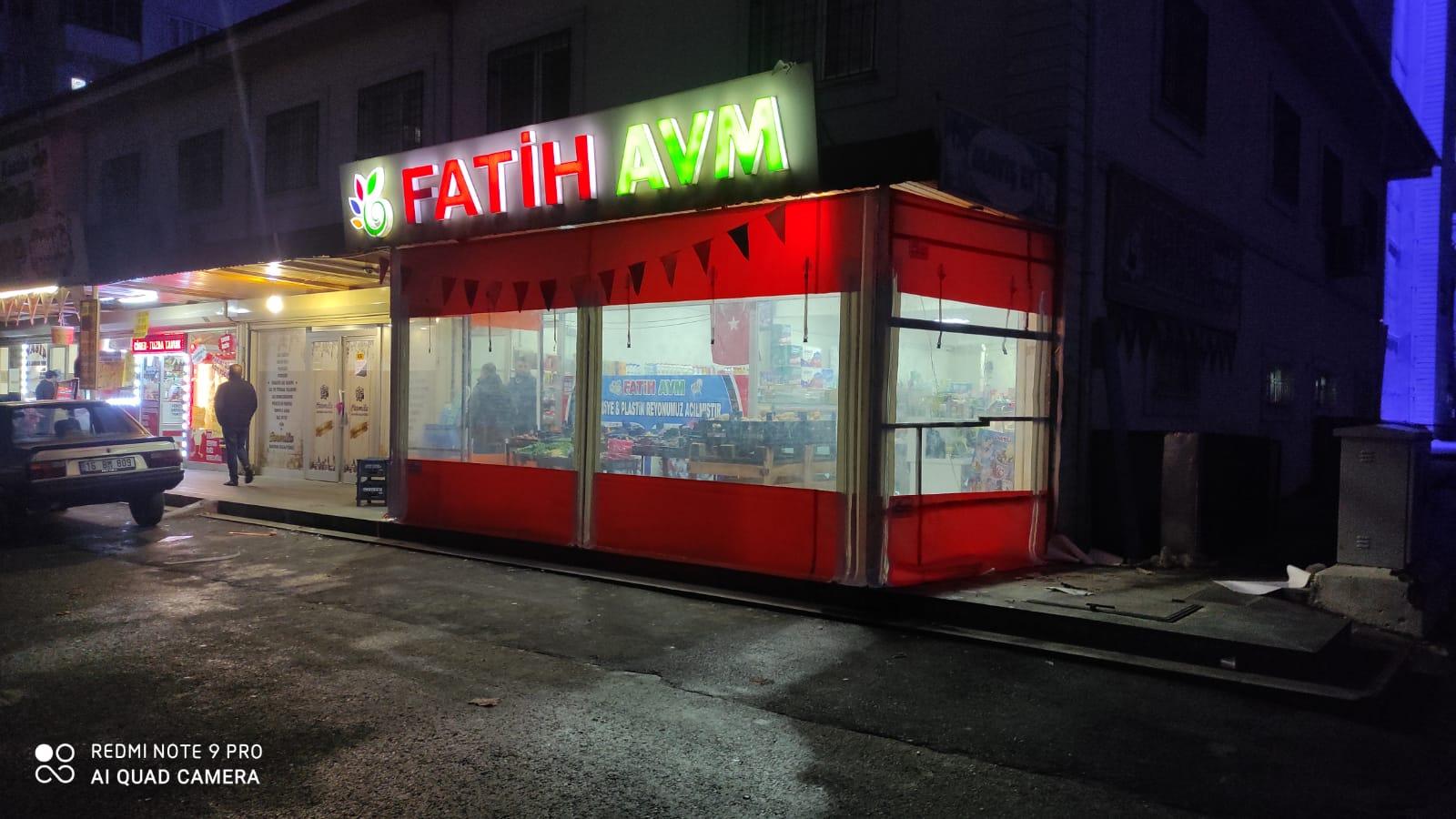 FATİH AVM ŞEFFAF KAPAMA Ç.ALIŞMAMIZ
